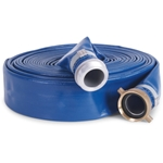 "PVC Discharge Hose 4"" x 50', Blue or Grey"