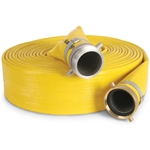 "High-Pressure Discharge Hose 1-1/2""x50',M-THRDxF-QC,Yellow"