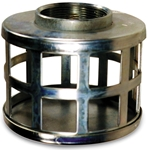 "Steel Suction Strainer 6"" NPSM Thread, 1-1/2"" Holes"