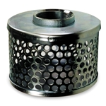 "Steel Suction Strainer 4"" NPSM, 3/8 Holes"