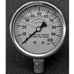 "Replacement Pitot Gauge 160PSI 2-1/2"" 2# GRAD., Liquid Filled"