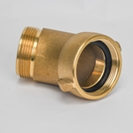 "Flow Nozzle Elbow 45 degree, 2-1/2"" NST FxM"
