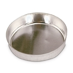 Disposable Aluminum Weigh Dish Smooth-Sided, 57mm, 100/pk