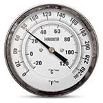 "Thermometer 0-250F/120C 1/2""NPT Back Mount, Dual Scale"