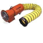 "12VDC Axial Blower W/Canister & 25' of 8"" Hose"