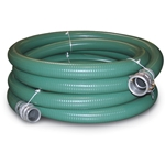"15' PVC Suction Hose 1"", F Quick Coupler x M Thrd"