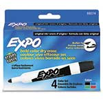Expo® Dry Erase Markers, Bullet Tip, Assorted Pack of 4