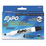 Expo® Dry Erase Markers, Chisel Tip, Assorted Pack of 4