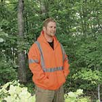 ANSI Class 3 Hi-Vis Hooded Sweatshirt, Orange, 3XL