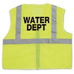 ANSI Class 2 Mesh Lime Vest with Water Dept Logo (S/M)