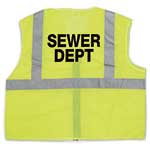 ANSI Class 2 Mesh Lime Vest with Sewer Dept Logo (2XL/3XL)