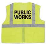 ANSI Class 2 Mesh Lime Vest with Public Works Logo (2XL/3XL)