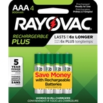 Rayovac® Recharge Plus AAA Batteries' 4/Pack
