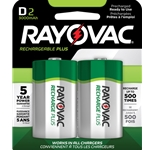 Rayovac® Recharge Plus D Batteries' 2/Pack