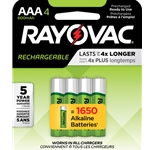 Rayovac® Rechargeable AAA Batteries' 4/Pack