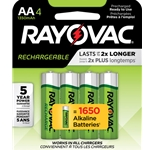 Rayovac® Rechargeable AA Batteries' 4/Pack