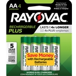 Rayovac® Recharge Plus AA Batteries' 4/Pack