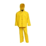 3-Piece PVC Yellow Rainsuit 0.35 MM' Medium