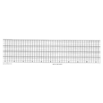 "Eberline Strip Charts' 2.563"" x 63'' Roll' CI-2167-R"
