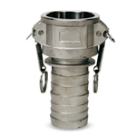 "Part C, 3"" Coupler (F) x Hose Barb Quick Coupling, Aluminum, AL-C300"