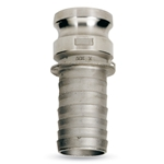 "Part E, 3"" Adapter (M) x Hose Barb Quick Coupling, Aluminum, AL-E300"
