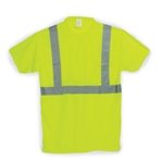ANSI Type R Class 2 T-Shirt, Yellow, Short Sleeve, Large, LUX-SSETP2B-YL