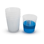 Beakers' Stackable' PP' 120mL'  500/CS' BST120-CASE
