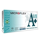 A Plus Aloe Powder Free Nitrile Gloves' Medium' 100/Bx' High Five, N882