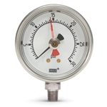 "2.5"" WIKA Pressure Gauge' SS 0-200 PSI' with Maximum Pointer' 9768688-0006"