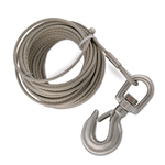"1/4"" x 55' Stainless Steel Cable Assembly for Hand Winch Version of OZ COMPOZITE Davit Cranes"