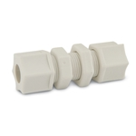 "Polypropylene Bulkhead Union Fittings' 3/8"" x 3/8""' 10/pk"
