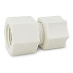 "Polypropylene Female Connector' 1/2"" Tube x 1/2"" NPT' 10/pk"