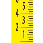 "Adhesive-Backed Vertical Rule, 1"" markings with 1/4"" graduations, 4 pieces, 3""W x 192"" total L"