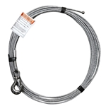 "3/16"" x 90' Stainless Steel Cable Assembly for Electric Winch Version of OZ COMPOZITE Davit Cranes"