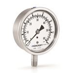 "Ashcroft® 4"" Water Level Gauge' 0-100 PSI/0-230 Ft/H2O' 1/4"" Connection' Dry Case' 1008 Series"