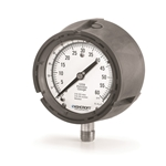 "Ashcroft® 4.5"" Water Level Gauge' 0-300 PSI/0-690 Ft/H2O' 1/4"" Connection' Dry Case' 1259 Series"