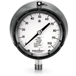 "Ashcroft® 4.5"" 316 SS Process Gauge' 0 to 300 PSI' Dry' 1/2""NPT Conn' 1259 Series"