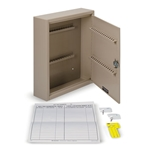 "Key Cabinet (Holds 60 Keys)' 10-1/2""W x 12-1/8""H x 3""D"