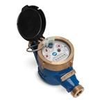 "Multi-Jet Water Meter' 1/2""' Direct Read' Gallons' 7.5""OL"