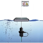 Quattro-DB Ultrasonic Algae Control Transducer with Float and Flag' 120 VAC