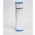 "Watts Pleated Sediment Cartridge' 5 micron' 2.75"" OD x 9.75"" L"