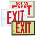 Signs: Lighted & Glow-in-the-dark Exit