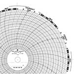"Partlow™ Circular Chart Paper (7day, 10"", 0-800, 100/bx) 00213808"