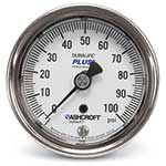 "Ashcroft® Duralife PLUS!™ Back Connection Gauge' 2-1/2"" Dial' 0 to 200 psi"