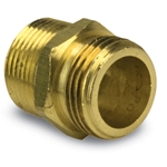 "Brass Double Male Nipple' 3/4""GHT x 3/4""GHT"