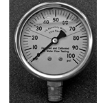 "Replacement Pitot Gauge 100PSI 2-1/2"" 2# Grad., Liquid Filled"