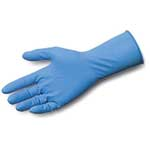 SafeGrip® Powder-Free Extended-Cuff Latex Gloves, Large, 50/Box