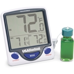 USABlueBook NIST Traceable Jumbo Digit Thermometer with bottle