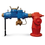 "Zenner FHD 3"" Dual Check RPZ Hydrant Meter with Wilkins Backflow Preventer & Stand' Cubic Feet' FHD30SCF-RP"