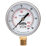 "Winters Lead Free 2.5"" Gauge' 0 to 30 PSI' 1/4"" Connect.' PEM212LF"